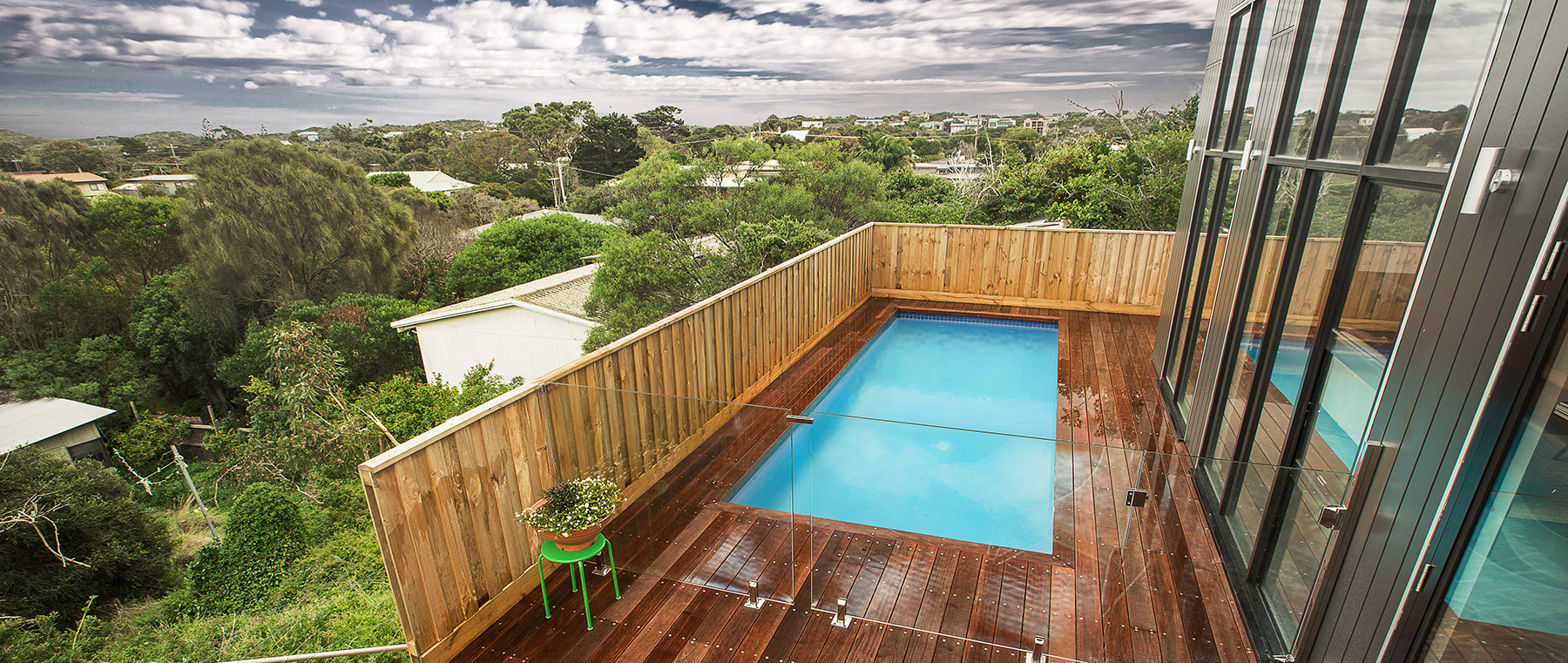 Pools for Sloping Blocks