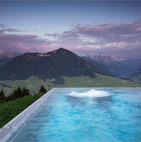 glass edge pool